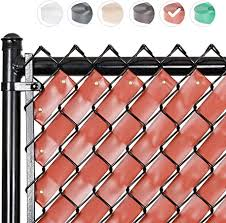 Amazon Com Fenpro Chain Link Fence Privacy Tape Redwood Garden Outdoor