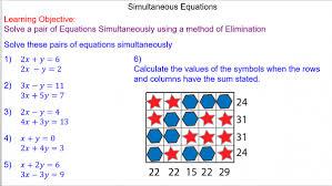 solving simultaneous equations mr