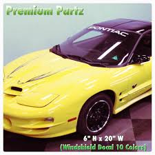 For 1950 2017 Pontiac Trans Am Firebird Gt Body Windshield Decal New 1pc 10 Colors Car Stickers Aliexpress
