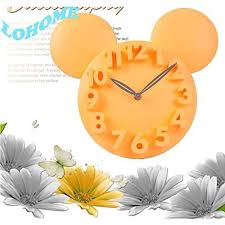Lohome Tm Modern Design Value Fashion Creative Multi Color Mickey Mouse Cartoon 3d Digital Wall Clock Children S Room Lovely Watch Prefect For Kids Bedroom Decoration Candy Color Gifts Yellow Coconuas168