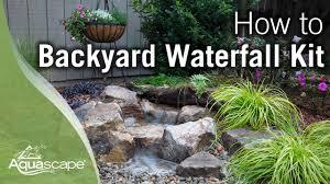 how to build a backyard waterfall you