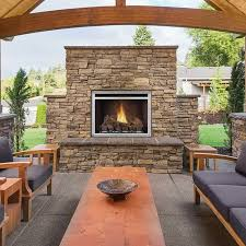 clean face outdoor fireplace