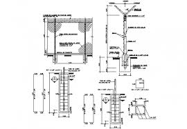 Mesh Fence Cyclone Type Section Construction And Installation Details Dwg File Cadbull