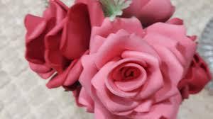 وردة مجسمه بلدي بالفوم اصنعي بوكية ورد بلدي بكل سهوله واقل تكلفه