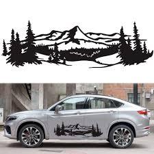 Auto Mountain Tree Forest Decal Diy Vinyl Graphic Sticker Decoration Accessories 50 150cm Car Stickers Aliexpress