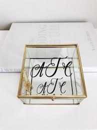 glass jewelry box bridesmaid proposal
