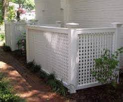Square Lattice Enclosure For Air Conditioners Or Anything That Should Be Hidden A Must For Any Landscape Walpole Outdoors Backyard Modern Shed