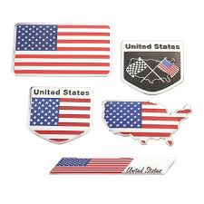 3d Alloy Metal Us Usa The United States Metal Badge Decal Decor For Re Jyards