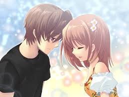cute cartoon love couple wallpaper