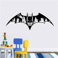 Wall Decal Vinyl Sicker Batman Dark Knight Vinyl Gotham Skyline City Kids Room Gift Home House Decoration Wallpaper Home Wall Decal Home Wall Decals From Onlinegame 10 4 Dhgate Com