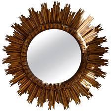 sunburst giltwood wall mirror