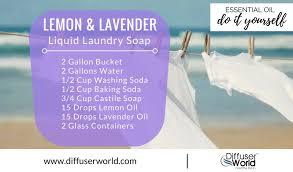 lemon and lavender liquid laundry soap