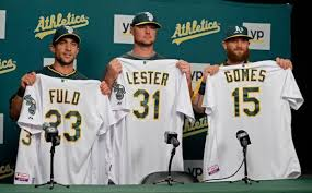 Oakland A's introduce Jon Lester, the latest ace in their stacked ...