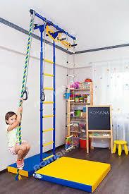 Kid S Home Gym Indoor Swedish Wall Playground Set For Kids Room Carousel R55 Ebay
