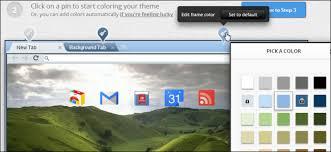 easily create your own google chrome theme