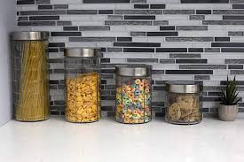 chex 4 piece glass canister