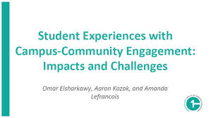 Presentation: Student Experiences with Community-Campus Engagement ...