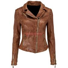 womens brown er leather motorcycle