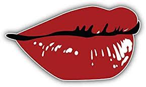 Amazon Com Kw Vinyl Red Lips Sketch Truck Car Window Bumper Sticker Decal 5 Automotive