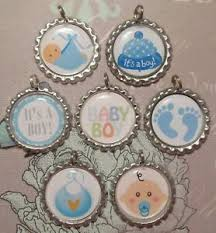 7 baby boy shower gift bottle caps