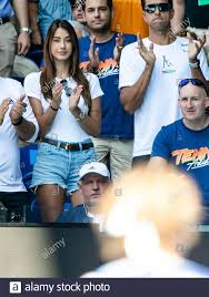 Melbourne, Australia. 29th Jan, 2020. Brenda Patea, girlfriend of Alexander  Zverev from Germany, applauds during Zverevs Quarterfinal match at the 2020  Australian Open Grand Slam tennis tournament in Melbourne, Australia. Frank  Molter/Alamy