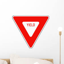 Red Yield Sign Wall Decal Wallmonkeys Com