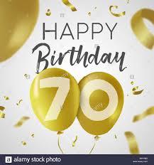 Feliz Cumpleanos 70 Setenta Anos Un Diseno De Lujo Con Numero De