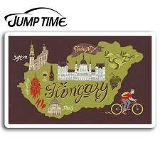 Jump Time Hungary Map Vinyl Stickers Budapest Sticker Laptop Luggage Waterproof Car Decal Window Bumper Auto Accessories Car Stickers Aliexpress