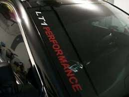 Lt1 Performance Windshield Decal Chevrolet Camaro Ss Pontiac Firebird Trans Am Ebay