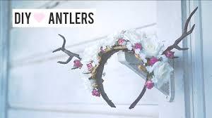 deer antler diy headpiece