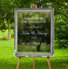 Custom Wedding Welcome Sign Sticker Mirror Frame Graphic Decor Vinyl Decal Ebay