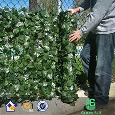 Artificial 39 X 94 Faux Ivy Leaf Decorative Privacy Fence Screen Hedge Fencing