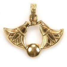 lotus flowers 18k gold pendant