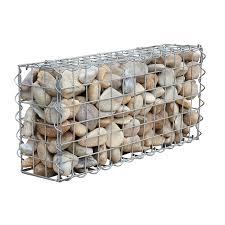 Whites 65 X 30 X 15cm Wire Garden Gabion Wall Bunnings Warehouse