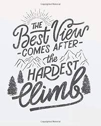 the best view comes after the hardest climb motivational quote