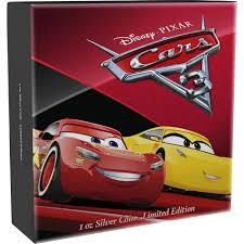 disney•pixar cars oz silver coin mint
