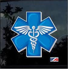 Caduceus Medical Emt Paramedic Full Color Decal Sticker Custom Sticker Shop