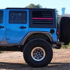 Jeep Wrangler Jk Rear Window Usa Flag Alphavinyl