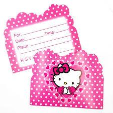10 Unids Hello Kitty Tematica Invitaciones De Cumpleanos Partyware