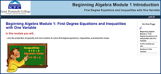 algebra 1 skillscommons support