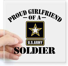 Amazon Com Cafepress Proud U S Army Girlfriend Square Sticker 3 X 3 Square Bumper Sticker Car Decal 3 X3 Small Or 5 X5 Large Home Kitchen