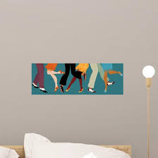 Legs People 1920s Clothes Wall Decal Wallmonkeys Com