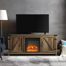 bisonoffice 58 barn door fireplace tv