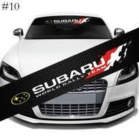 High Quality 98x12 7cm Subaru Wrx Sti Windshield Racing Sports Vinyl Car Window Decal Sticker Rc076 Wish