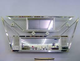 atomic mirror shadow box midcentury