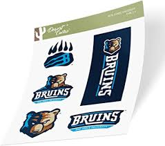 Amazon Com Bob Jones University Bju The Bruins Ncaa Sticker Vinyl Decal Laptop Water Bottle Car Scrapbook Type 2 Sheet Arts Crafts Sewing