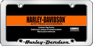 6305 Chroma Graphics License Plate Frame Harley Davidson Script
