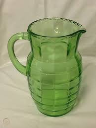 depression glass green block optic