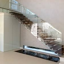 interior stair glass railing systems