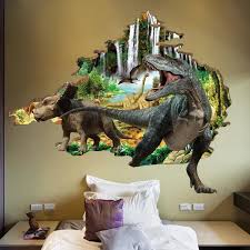 Brighten Up Your Home In Seconds With A High Quality Dinosaur 3d Wall Stickers Decal This Stunning Decal Dinosaur Wall Stickers Dinosaur Wall Kids Wall Decals